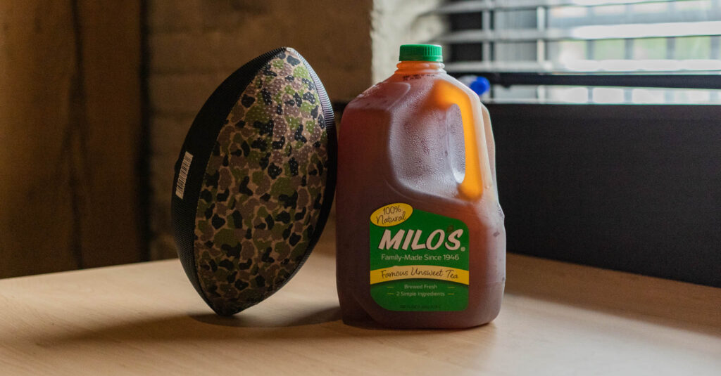 Football And Milos Tea