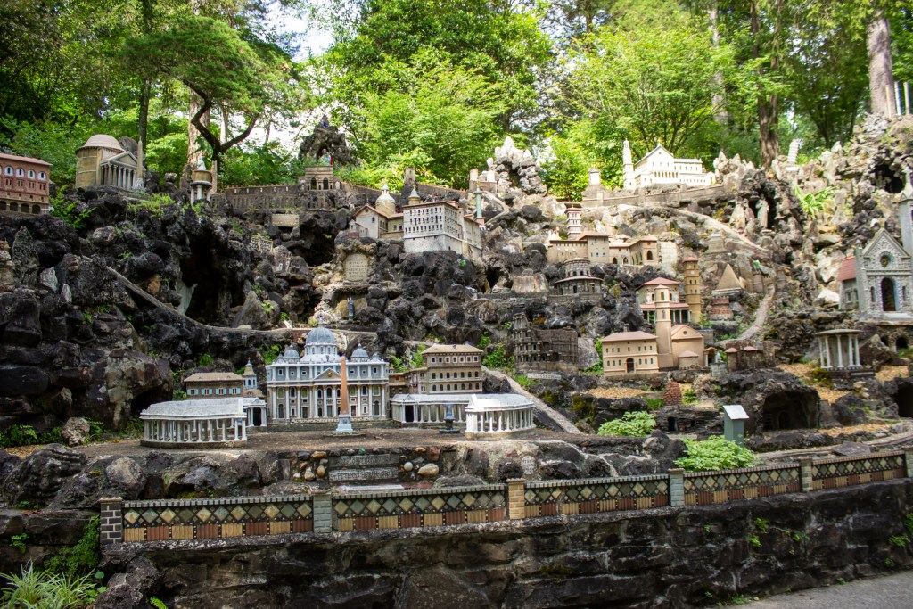 The Roman Section Of The Ave Maria Grotto. Photo By Libby Foster For The Bama Buzz.