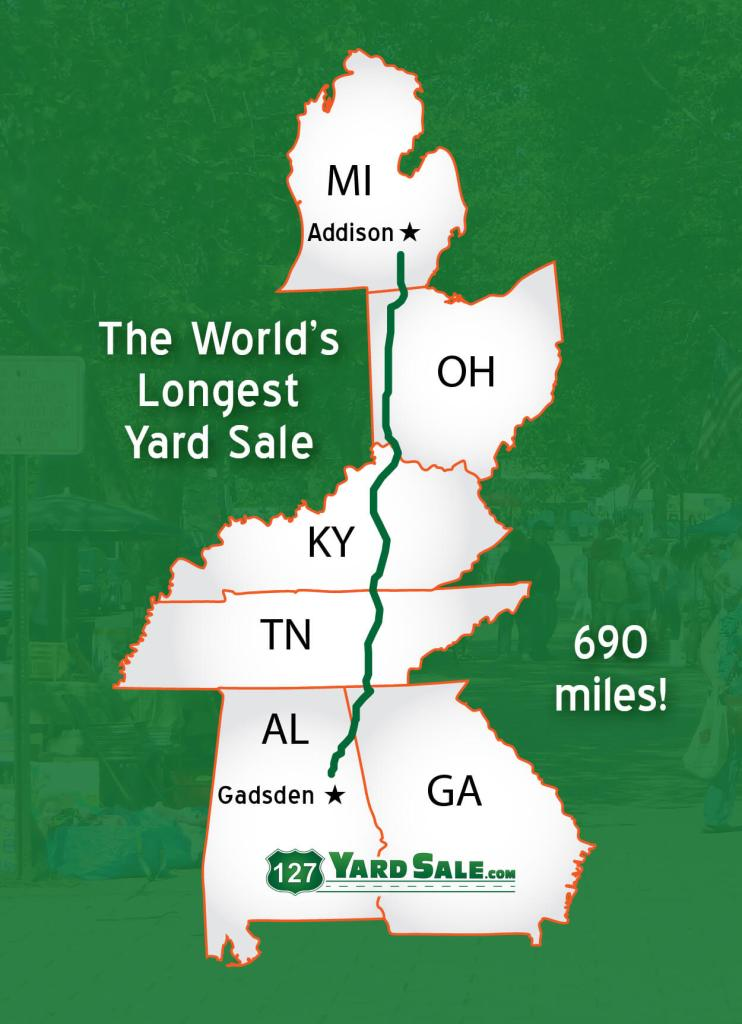 Map Of 127 Yard Sale
