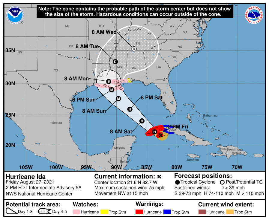 Hurricane Ida From Nws