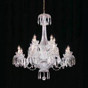 8th Waterford Crystal Scourt 12 Arm Chandelier