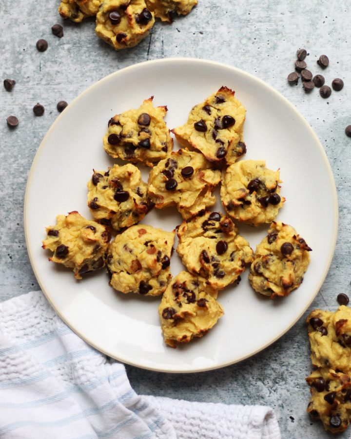 These paleo chocolate chip cookies are hands down the BEST and they're nut-free, flourless, dairy-free, gluten-free, and sugar-free! They also have a vegan option!