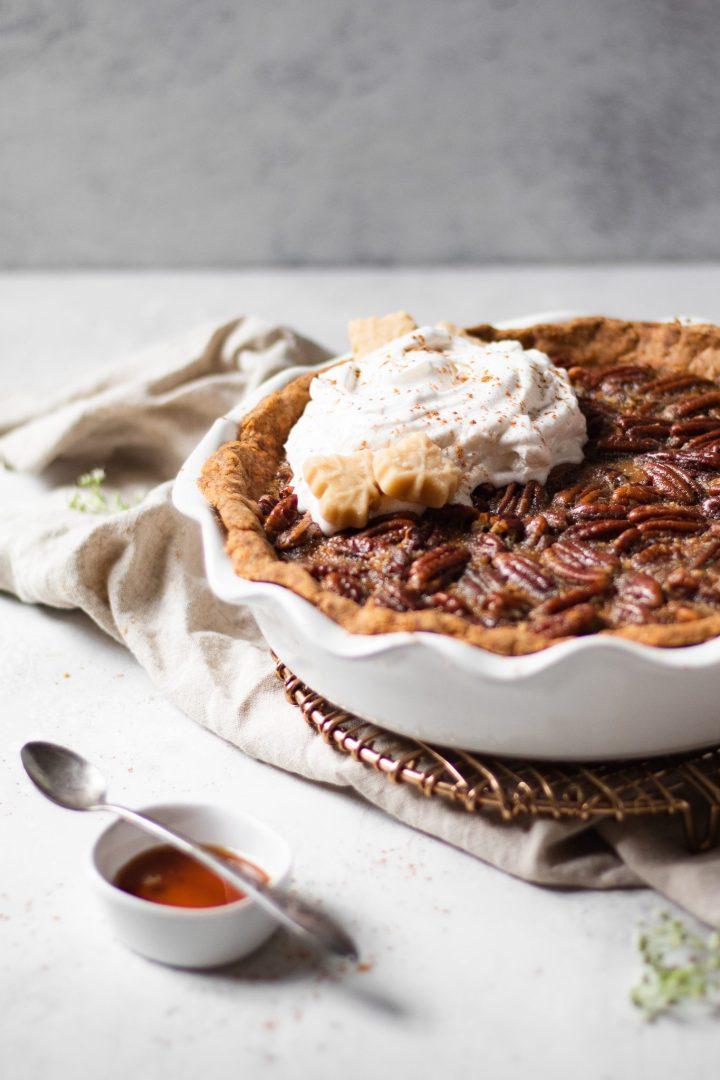 close up of pie crust