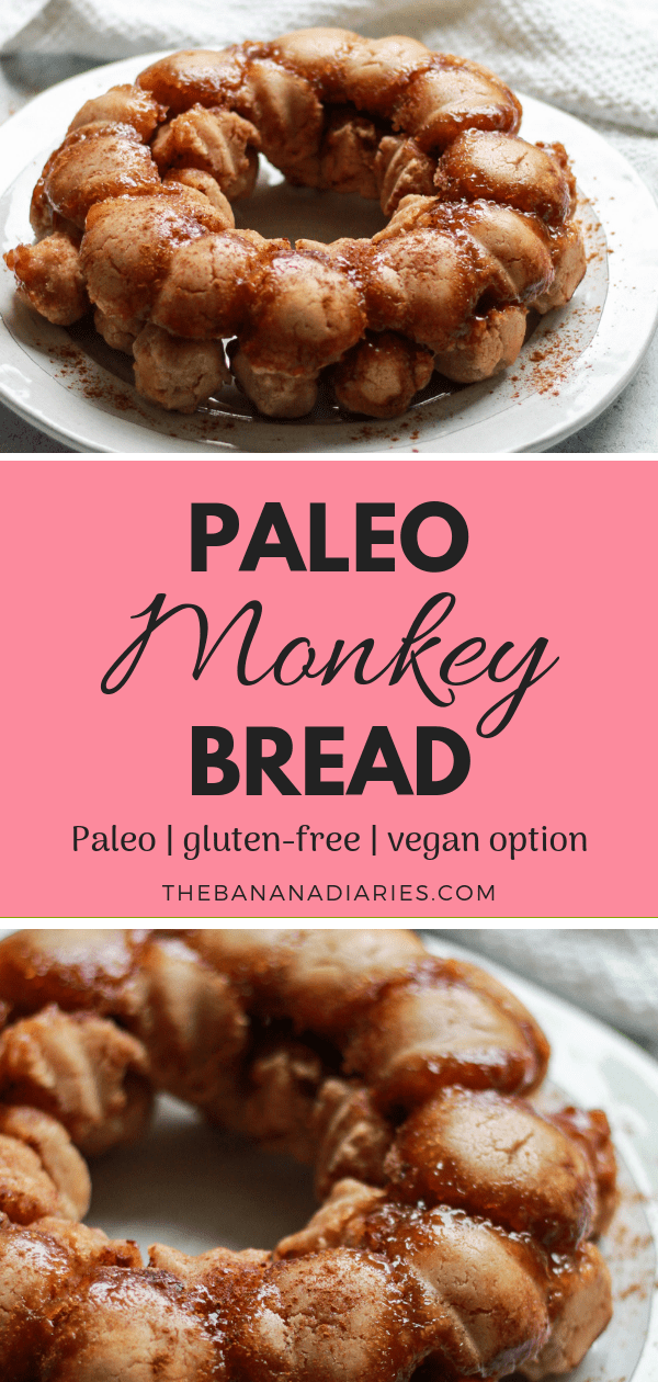 Pinterest image for paleo monkey bread
