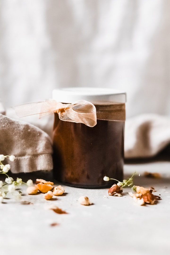 jar of homemade Nutella