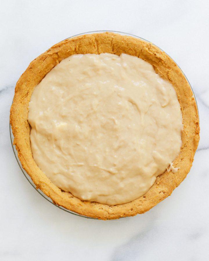 paleo banana cream pie crust with paleo vanilla pudding