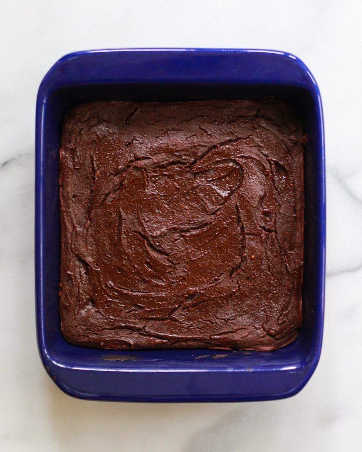 brownies in baking pan