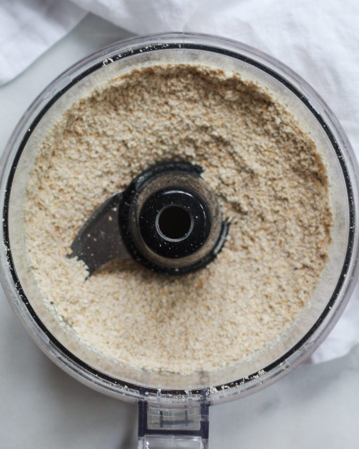 ground oats in food processor