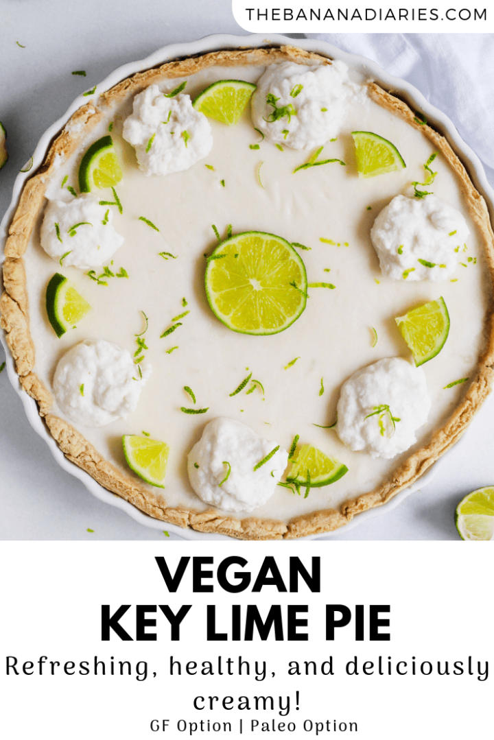 pinterest image for vegan key lime pie