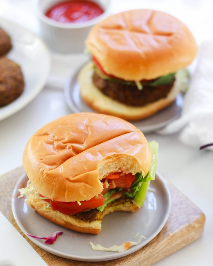 bite missing from veggie burger