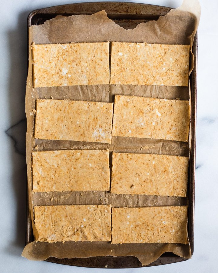 paleo pop tarts on a baking sheet