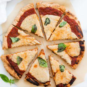 vegan pizza sliced