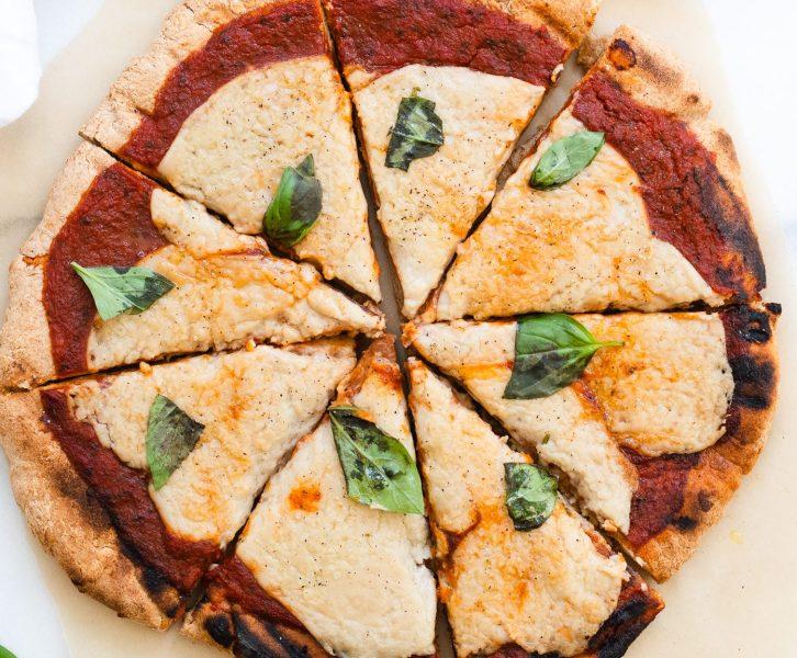 header for homemade vegan pizza