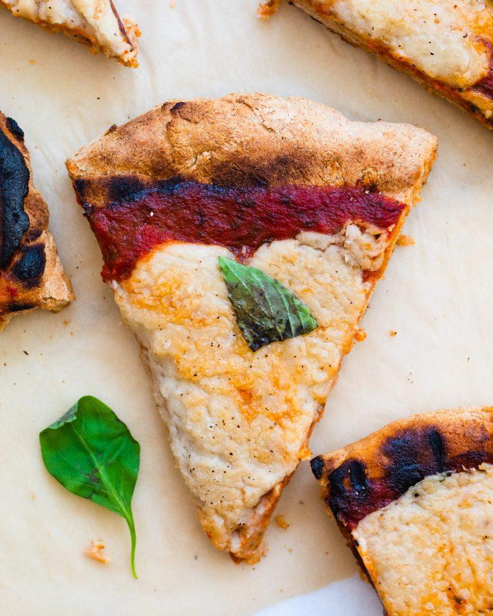 slice of vegan pizza recipe