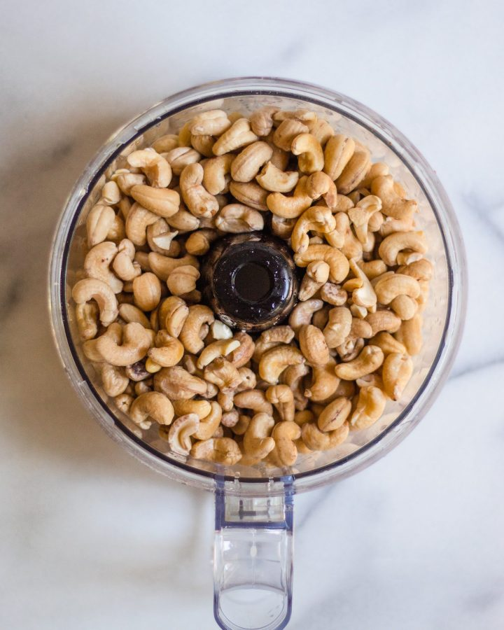 cashews in food processor