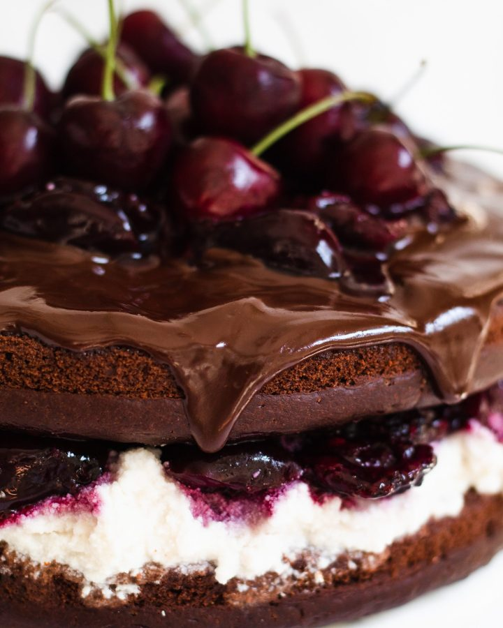 close up of the chocolate ganache