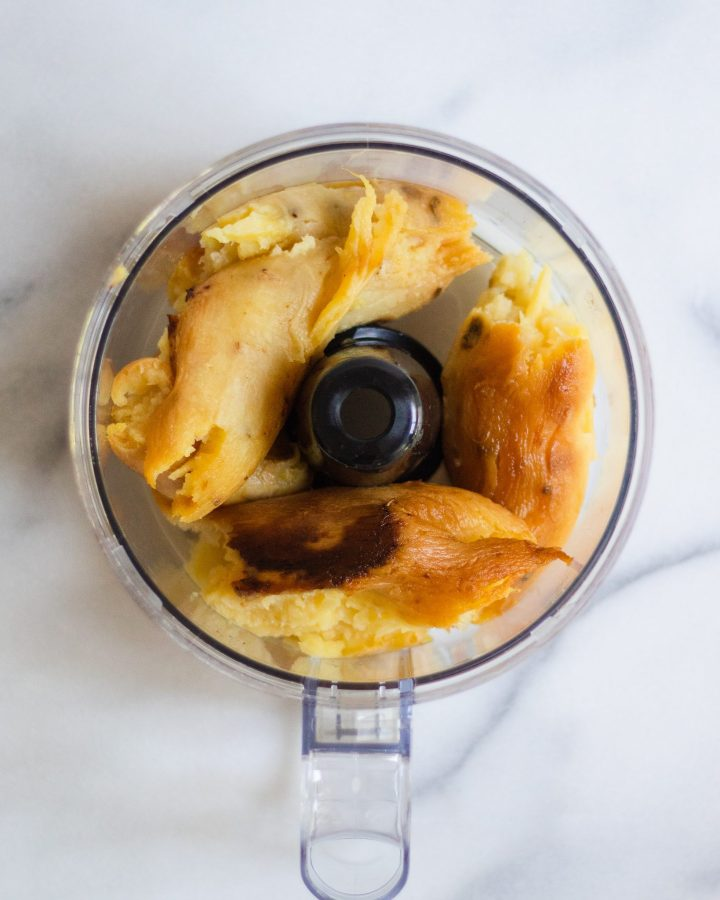 japanese sweet potato in food processor
