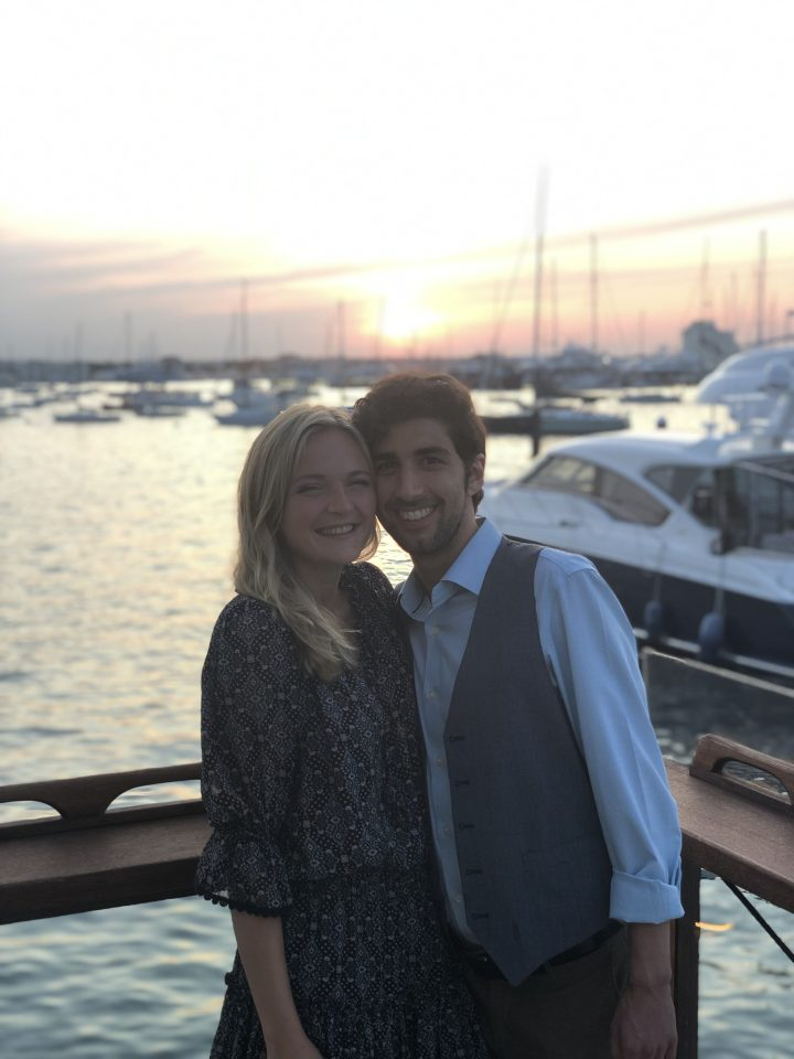 Jared and Britt at sunset