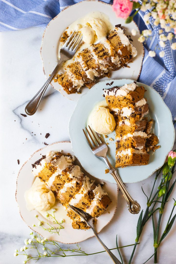 three slices of gluten free cookie cake
