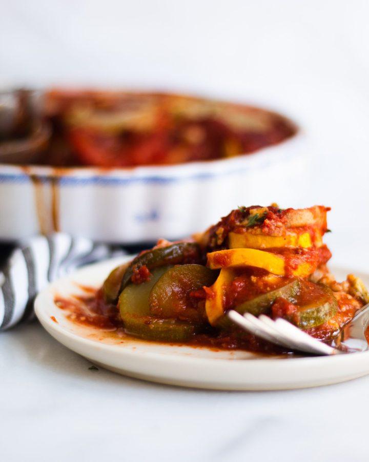plate of ratatouille