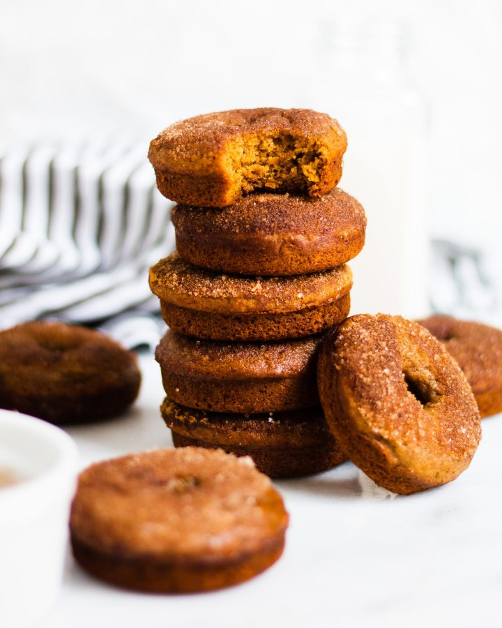 stack of cinnamon sugar donuts