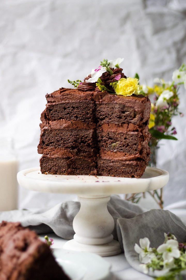 decadent chocolate zucchini cake