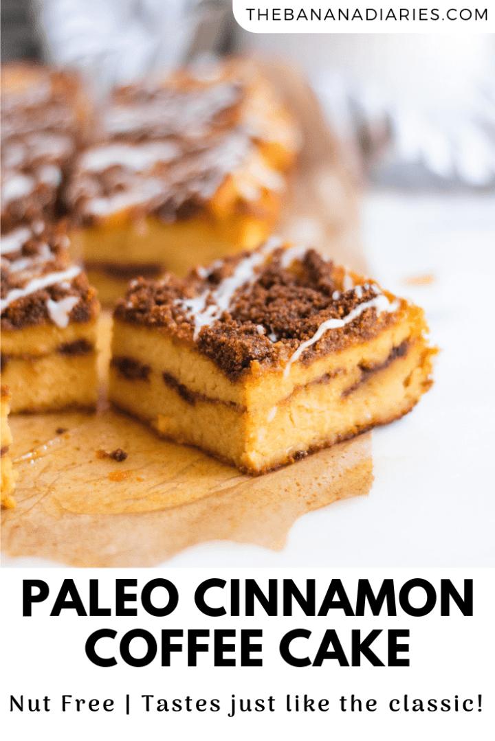 pinterest image for gluten free cinnamon coffee cake