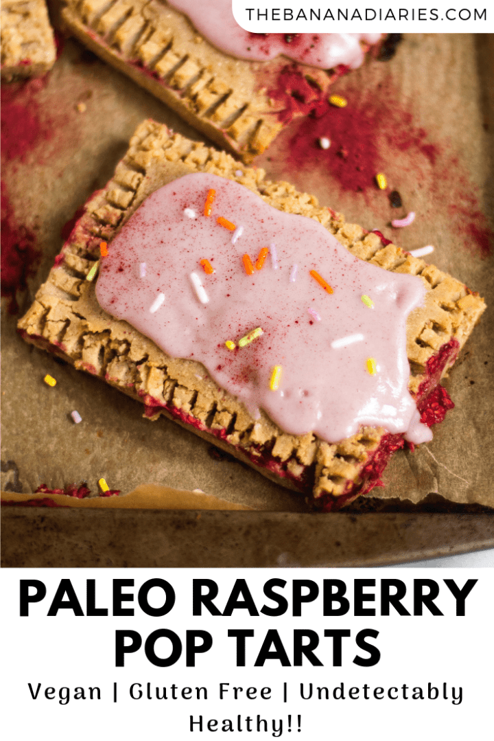 pinterest image for raspberry pop tarts