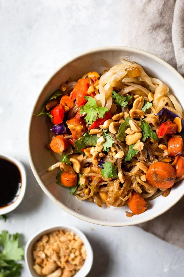 bowl of vegan pad Thai