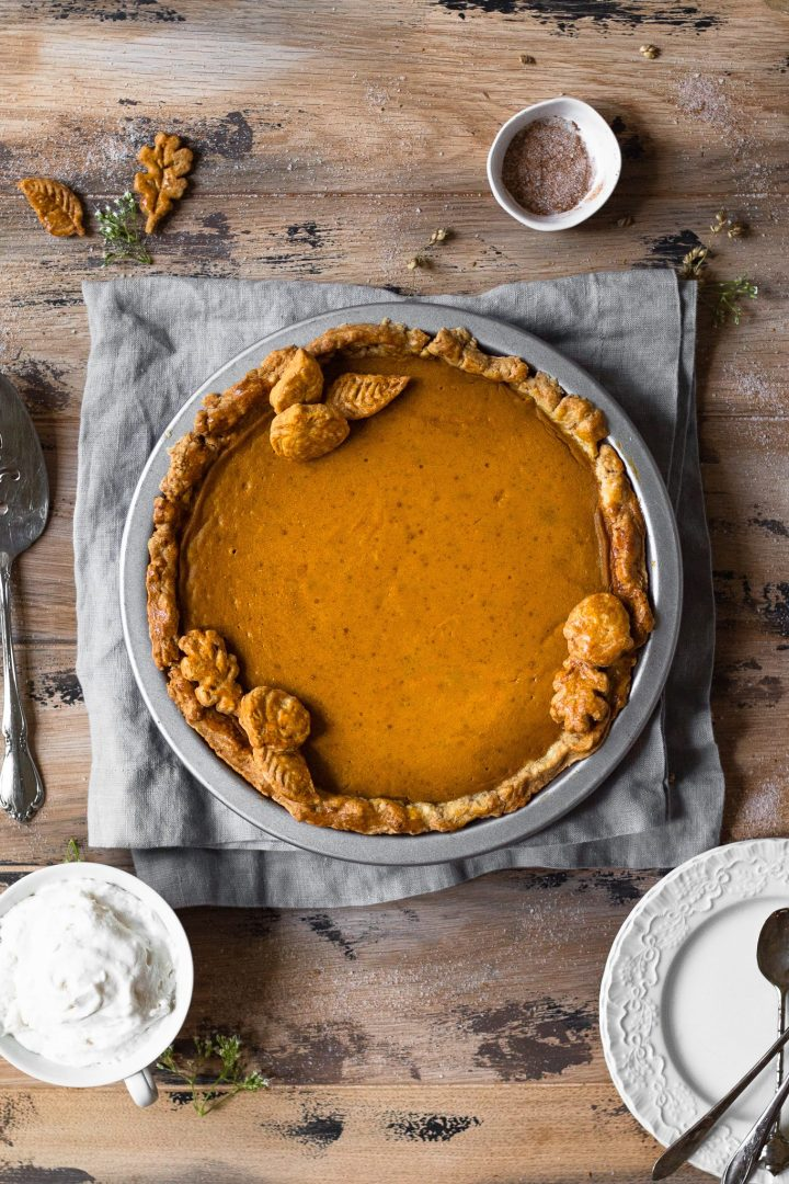 fully baked pumpkin pie