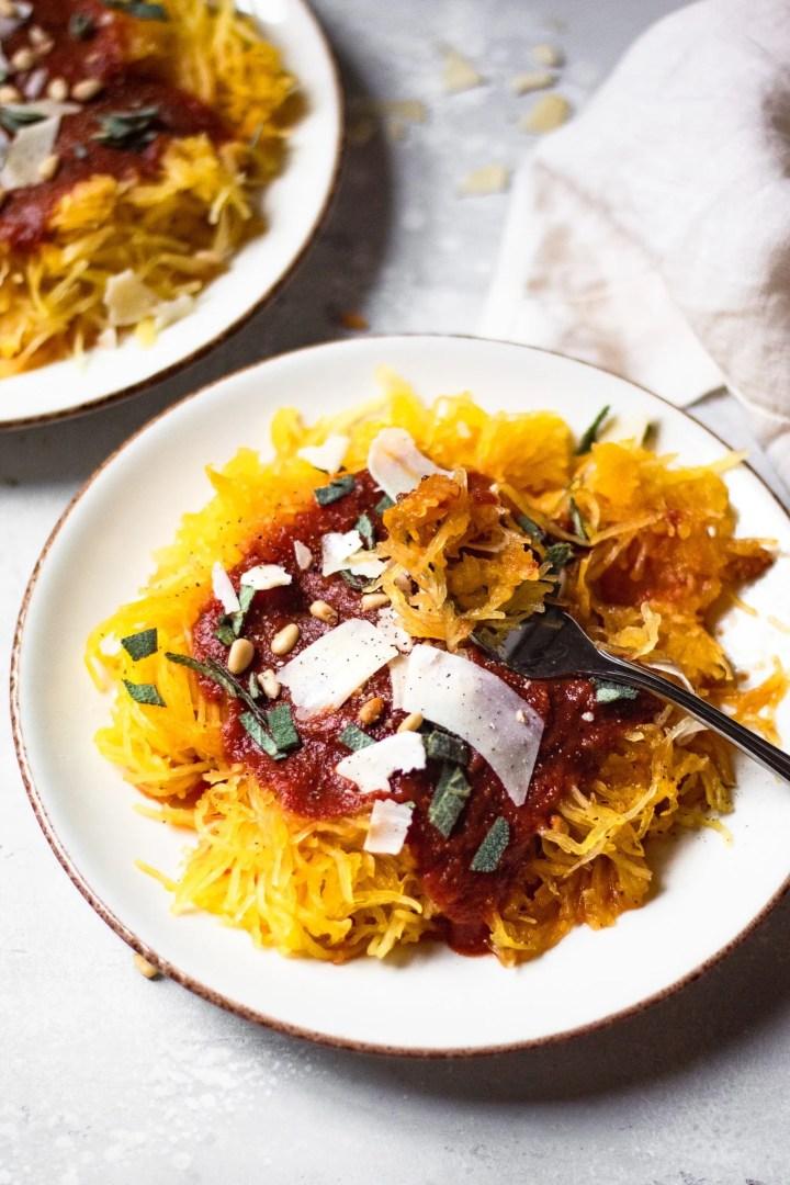fork in spaghetti squash