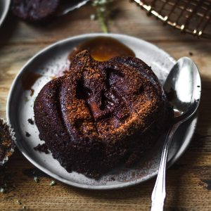 pumpkin paleo lava cake