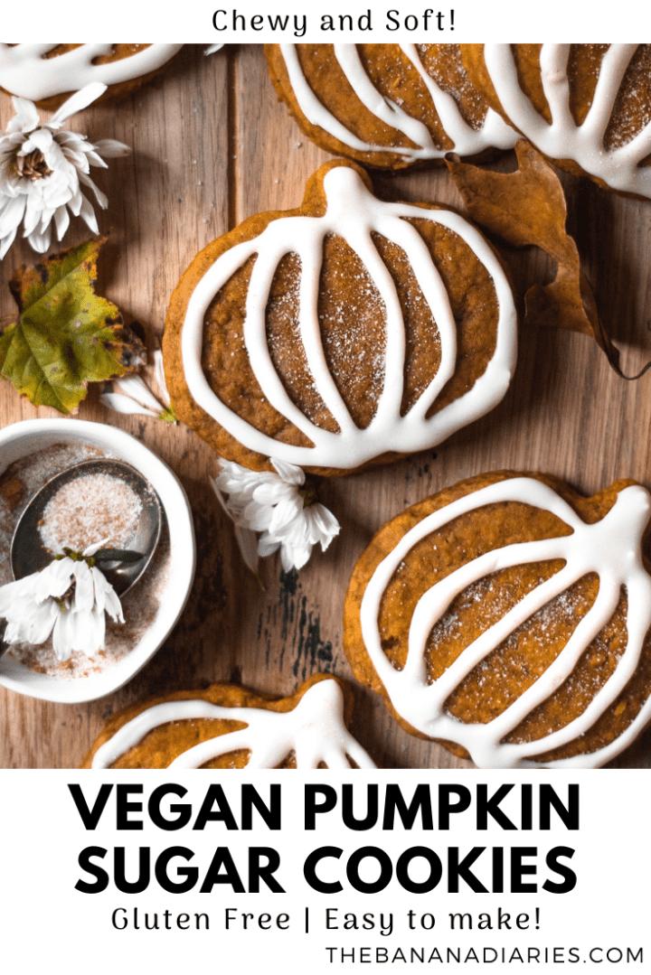pinterest pin for pumpkin sugar cookies