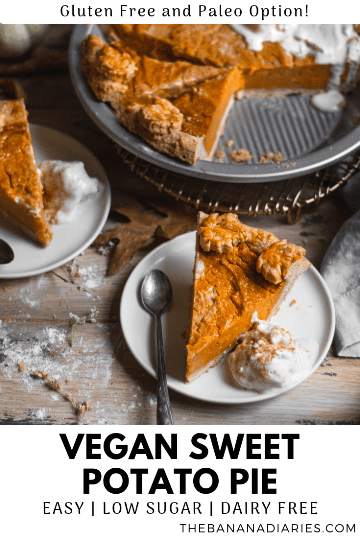 pinterest image for sweet potato pie