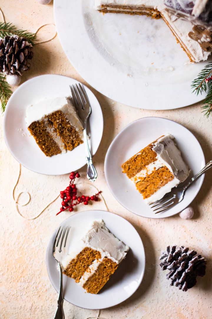 plates of cake