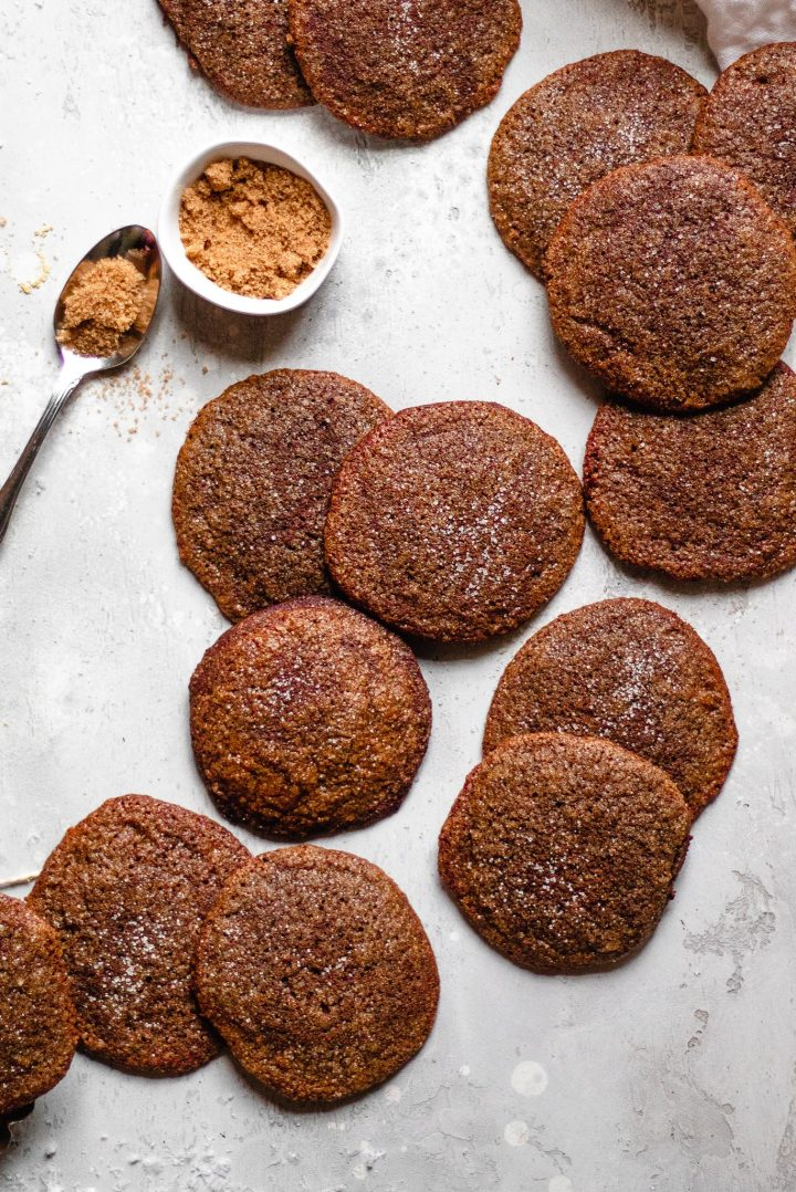 line of molasses cookies