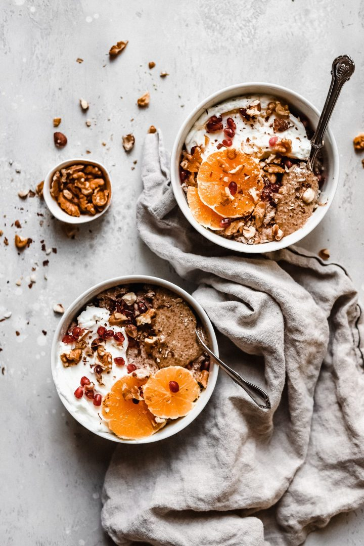 bowls of Whole30 oatmeal together