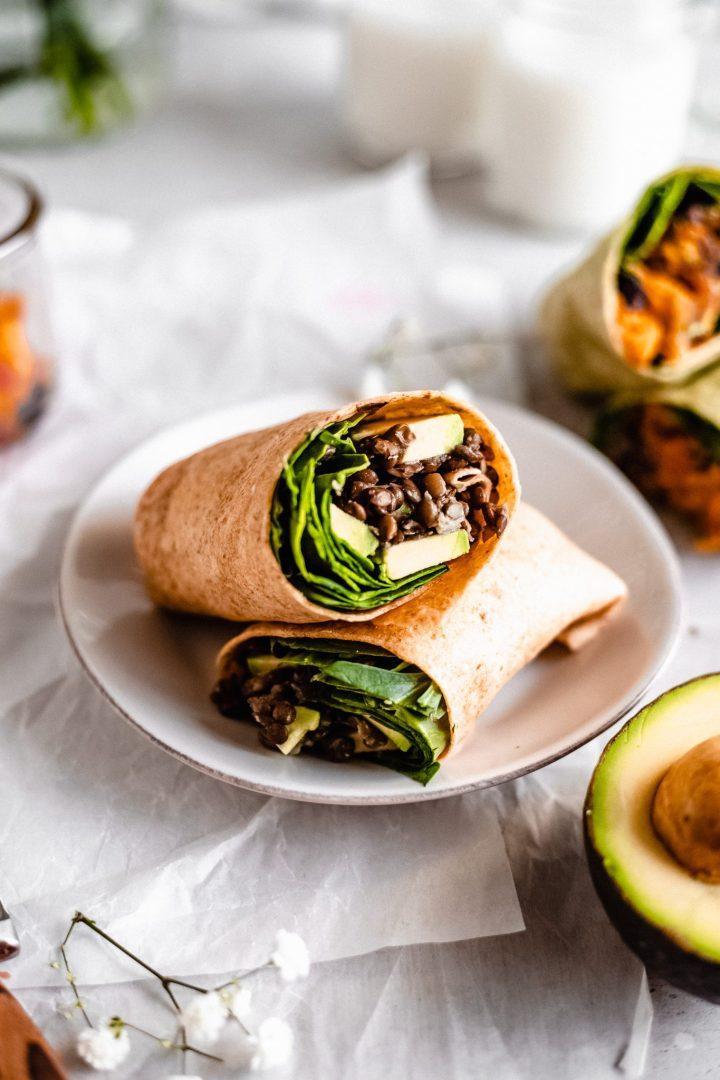 moroccan lentil breakfast burrito