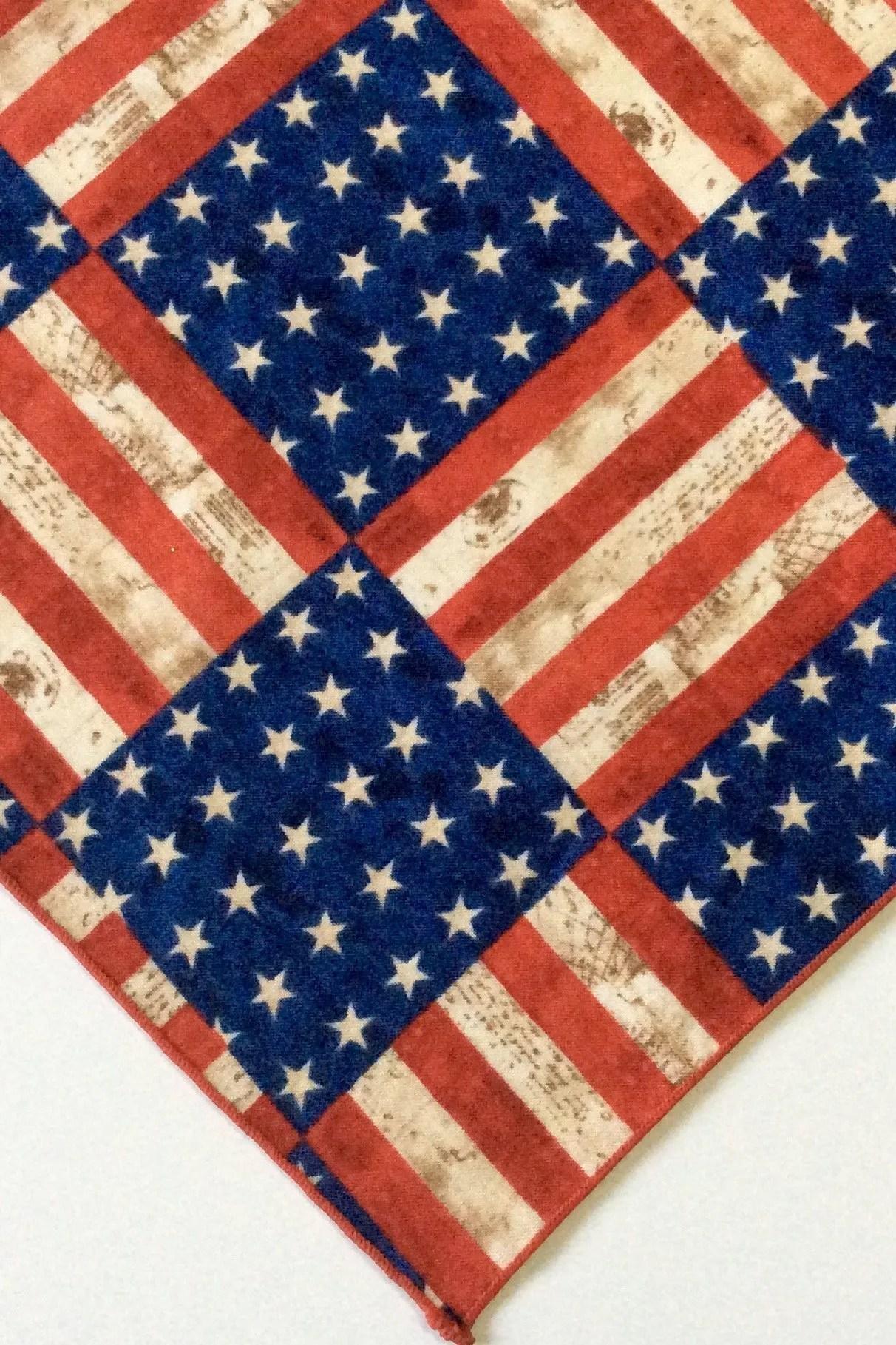 Antiqued American Flag The Bandana Bandits