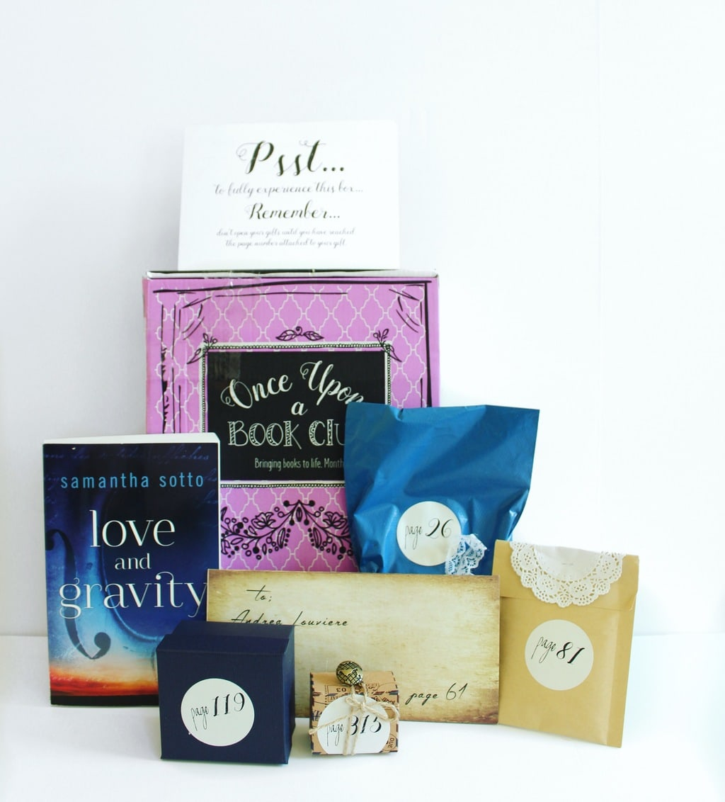 once upon a book club box love and gravity review