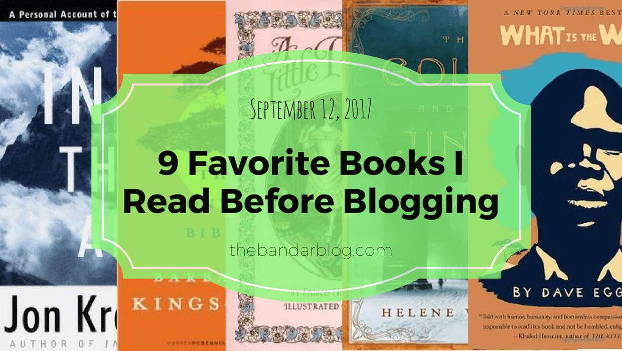 9 Favorite Books I Read Before Blogging