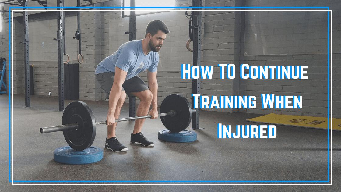 training when injured