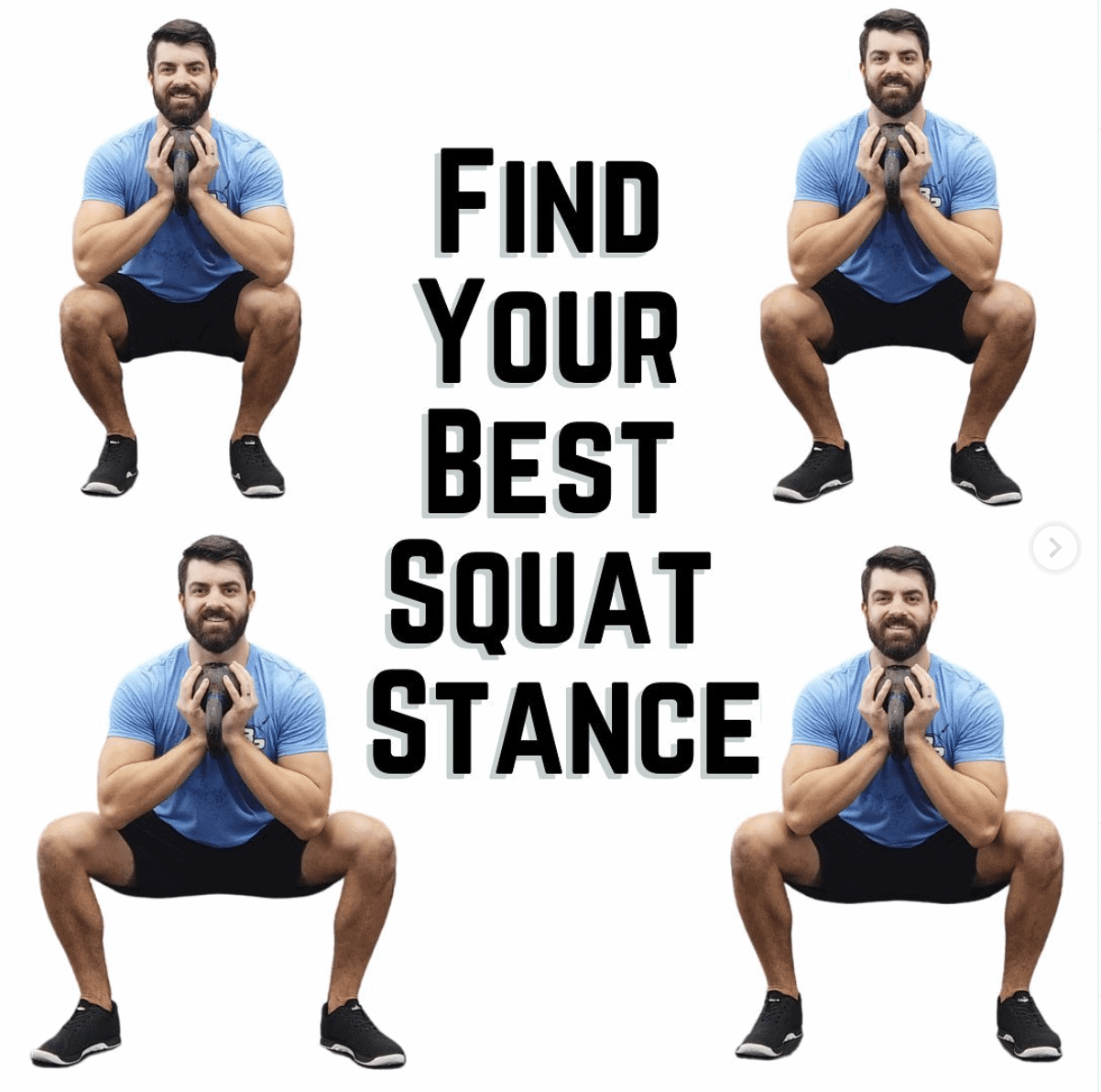 Squat stance toe out