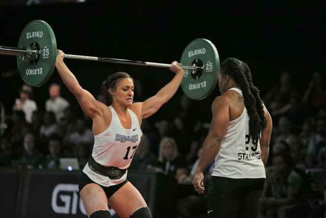 Alexandra LaChance snatches in front of Taylar Stallings