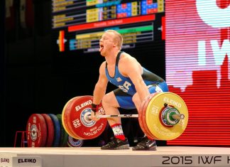 Jared Fleming at 2015 IWF World Championships in Houston, Texas