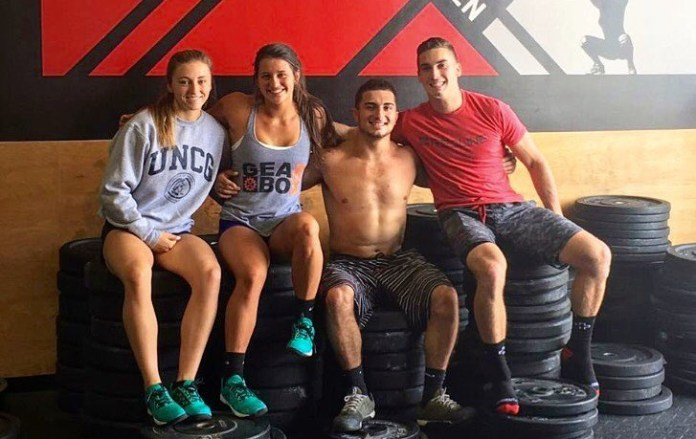 Teen Redline Dream Team during CrossFit Team Series