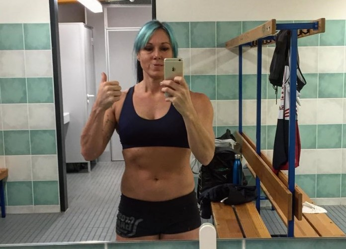 Shana Alverson after successfully weighing in at 2016 IWF Masters World Championships