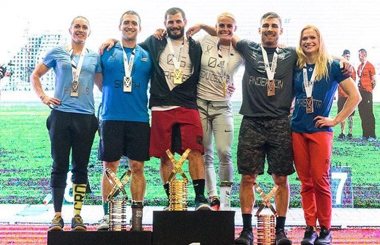 2016 Dubai Fitness Championship podium