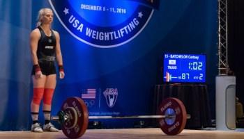 c3b3ec30e4f0 Cortney Batchelor Breaks Her Own USAW American Record Snatch