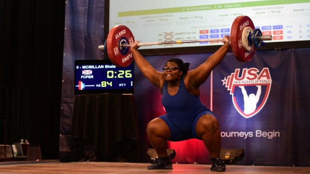 Shala McMillan at the 2015 USAW American Open